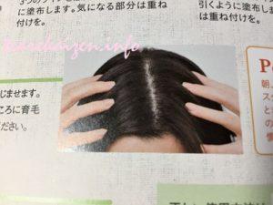 マイナチュレ育毛剤 使い方4